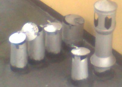 nieprawidłowe nasady na zaniżonych przewodach kominowych